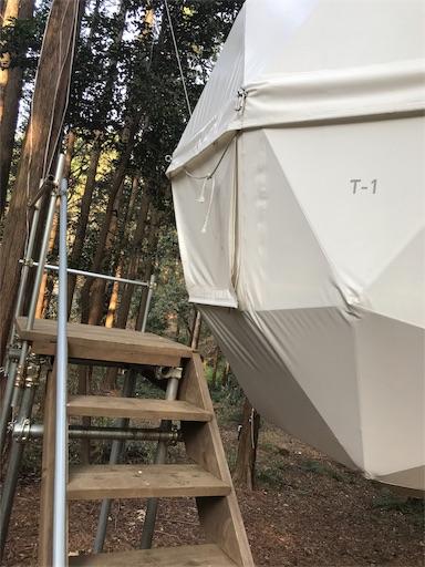 innthepark(インザパーク)の吊りテント入り口