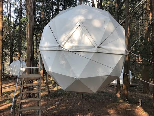 沼津の泊まれる公園INNTHEPARKの吊りテント