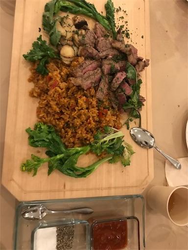 INNTHEPARKの夕食の牛サーロインのグリル