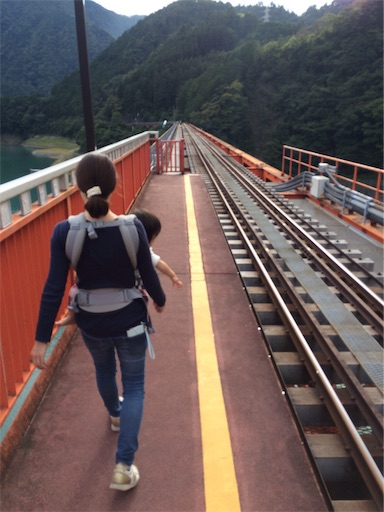 奥大井湖上駅を歩く