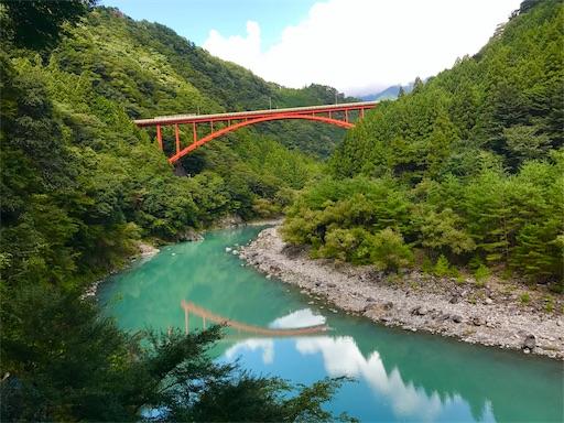 大井川鉄道からのコバルトブルーの絶景