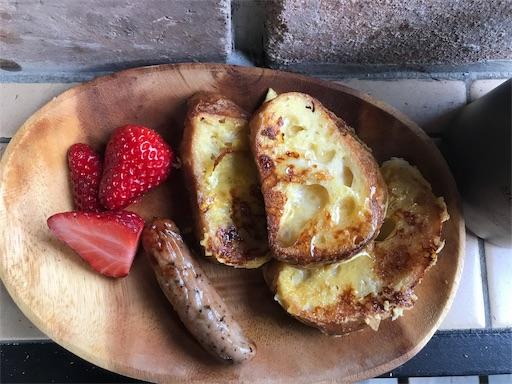 キャンプの朝食で食べるフレンチトースト