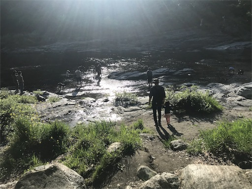 長瀞オートキャンプ場から川に出た様子