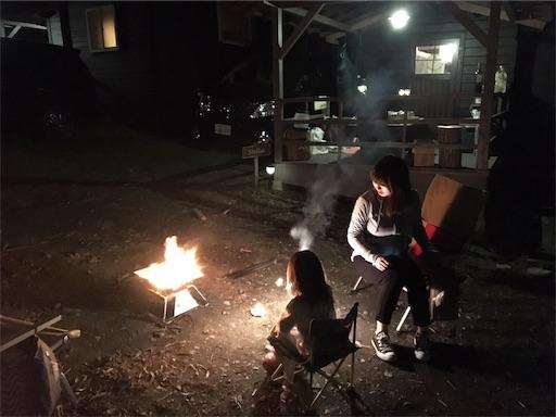 長瀞オートキャンプ場のグランピングで1花火