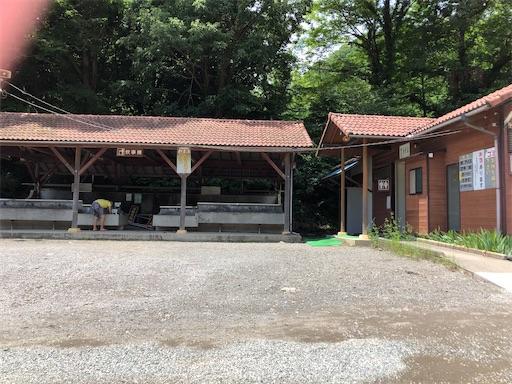 青野原オートキャンプ場のトイレと炊事場