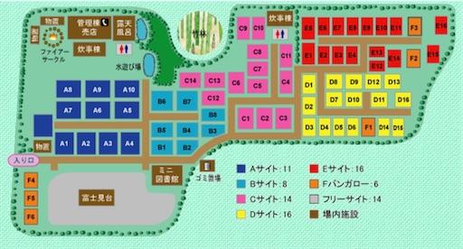 新富士オートキャンプ場のマップ