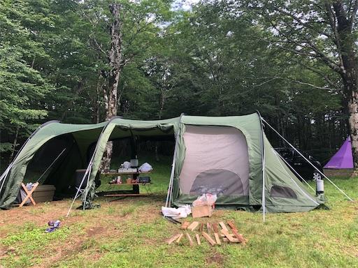 PICA表富士のフリーサイトでキャンプ