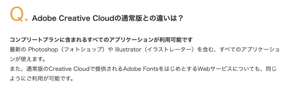 Adobe Creative Cloudの機能について