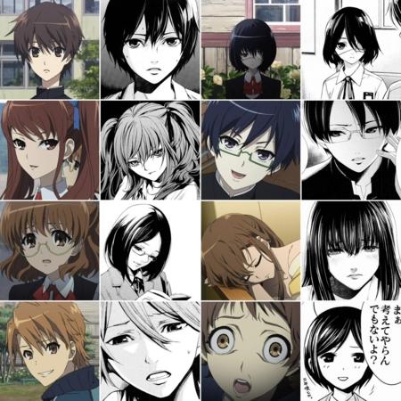 [anime][manga][Another][見崎鳴][赤沢泉美][桜木ゆかり][三神怜子][水野看護婦][比較][Another他]