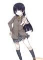 [manga][俺妹][黒猫][いけださくら][制服][ひざ]