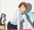 [anime][gif][WORKING!!][松本麻耶][ひざ裏]OPのフリフリ松本さん
