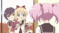 [anime][gif][ゆるゆり][歳納京子][船見結衣][吉川ちなつ][あたま]