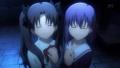 [anime][Fate][遠坂凛][間桐桜][遠坂姉妹][泣き笑顔]