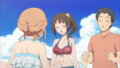 [anime][gif][TARI TARI][宮本来夏][沖田紗羽][へそ][あたま]