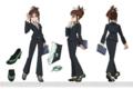 [anime][アイドルマスター][設定画][秋月律子]