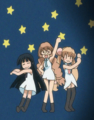 [anime][gif][こどものじかん][九重りん][鏡黒][宇佐美々][ダンス]