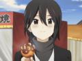 [anime][gif][ココロコネクトgif][ココロコネクト][稲葉姫子][あーん][たこやき][赤面]