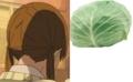 [anime][となりの怪物くん][水谷雫][うなじ][あたま][キャベツ]