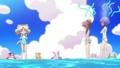 [anime][ジュエルペット][桜あかり][ミリア][沙羅][水着][赤面]