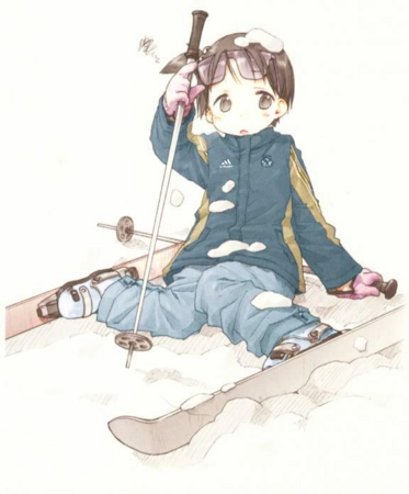 [manga][苺ましまろ][ばらスィー][伊藤千佳][スキー][ころぶ]