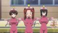[anime][gif][ガールズ&パンツァー][ガルパンgif][あんこう踊り][角谷杏][小山柚子][河嶋桃][おっぱい][生徒会(カメ)]