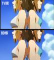 [けいおん!][けいおん!水着][平沢唯][田井中律][胸][おっぱい][比較][BD版]