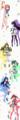 [ビビッドレッド・オペ][一色あかね][二葉あおい][三枝わかば][四宮ひまわり][黒騎れい][一色もも]