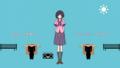 [gif][物語シリーズgif][物語シリーズ][物語シリーズセカンド][猫物語][羽川翼][猫物語OP][体操]