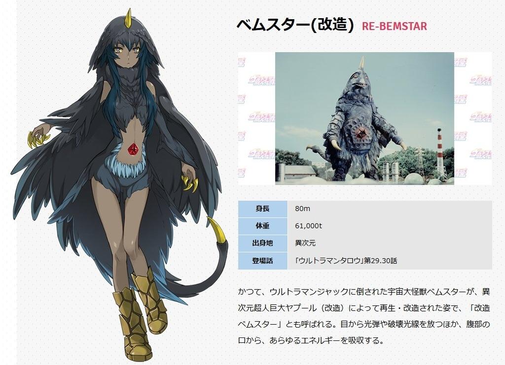 劇場版 怪獣娘(黒): ウルトラ怪獣擬人化計画 ベムスター画像