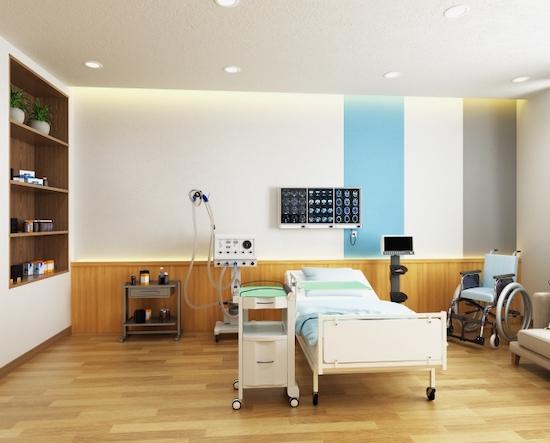 病院の個室の画像