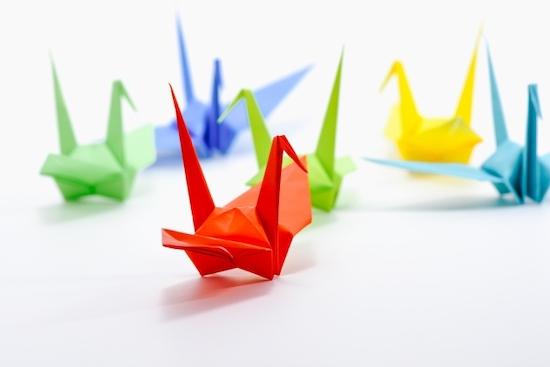 折り鶴の画像