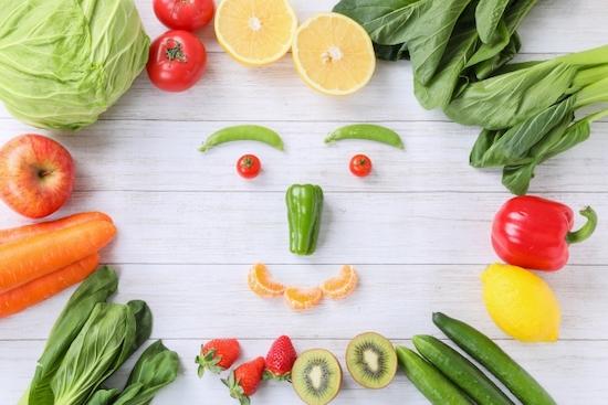 笑顔に見える野菜の写真