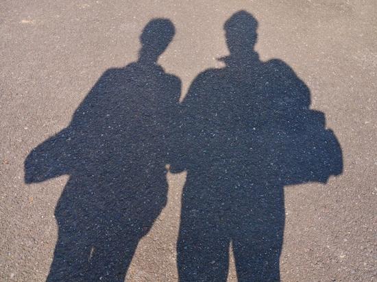 カップルの影の写真