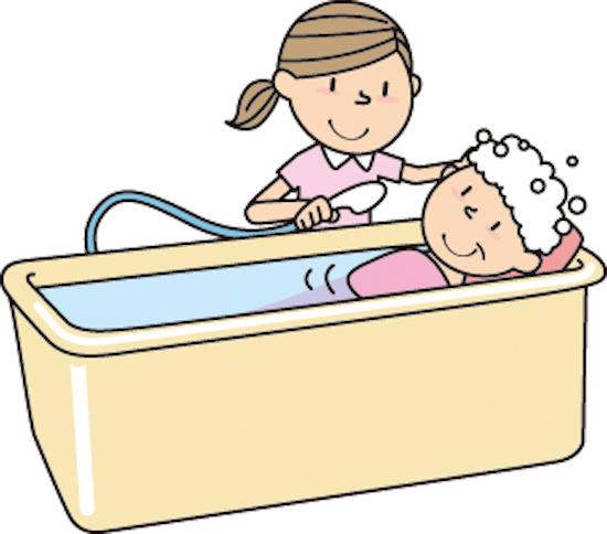 高齢者の入浴イラスト