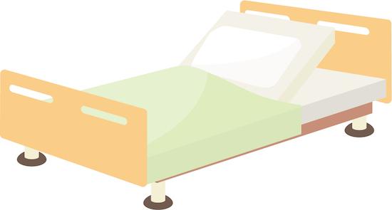 介護ベッドのイラスト
