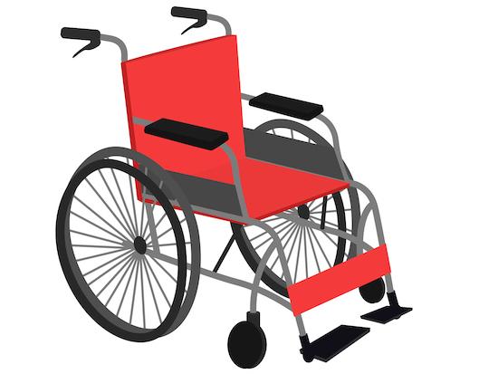 車いすのイラスト