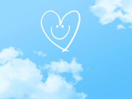 青空にハートの笑顔
