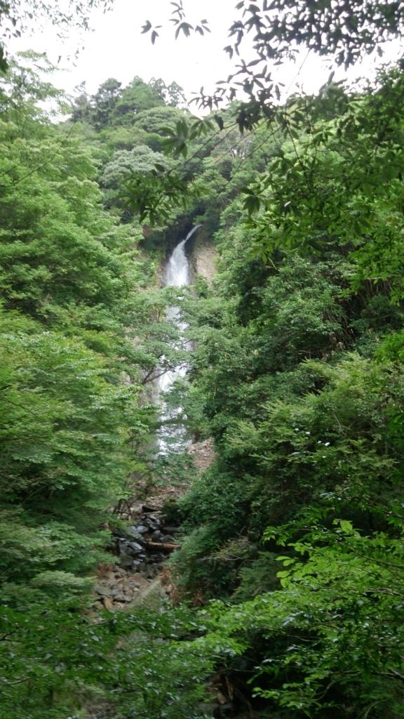 宇嶺の滝正面