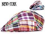 (ニューヨークハット)NEW YORK NEWYORK HAT #6100 Madras Pub マドラス パブ11855 (RED)