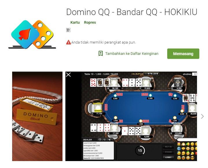 Aplikasi Bandar Dominoqq Online Hokikiu Di Google Play Store Hokikiu Bandar Dominoqq Terpercaya