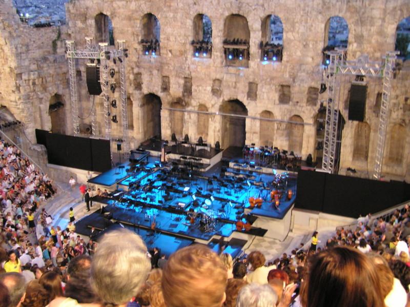 アテネ ギリシャ 野外ステージ