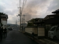 親戚のおっさんの近所が火事