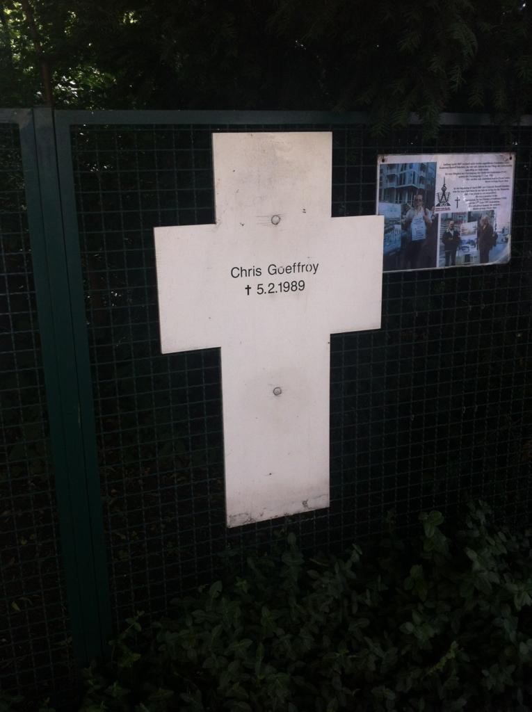 ベルリンの壁を乗り越えようとして射殺された最後の方のお墓