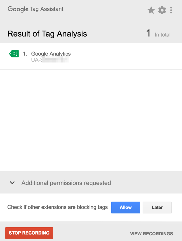 Tag Analysis