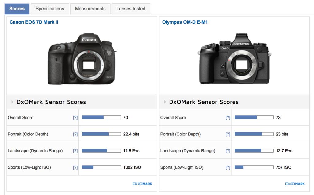 f:id:photographerti:オリンパスE-M1とキヤノンの7D MarkⅡのダイナミックレンジ比較