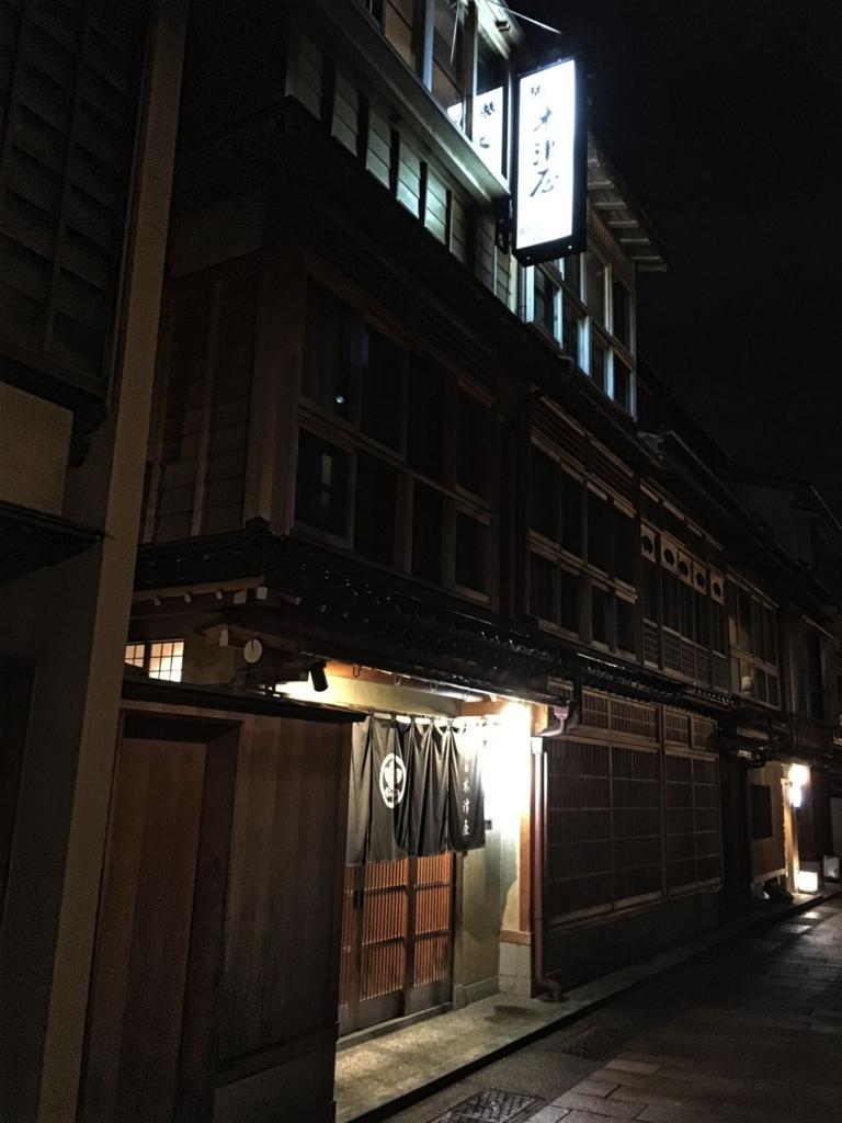 夜の木津屋旅館