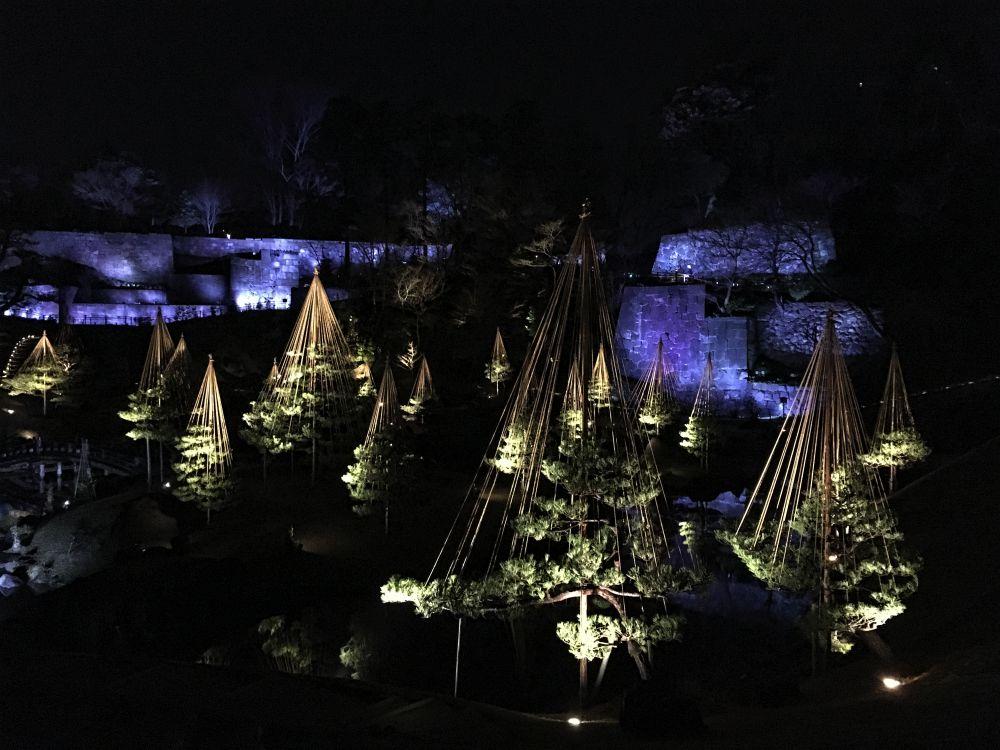 金沢城庭園ライトアップ