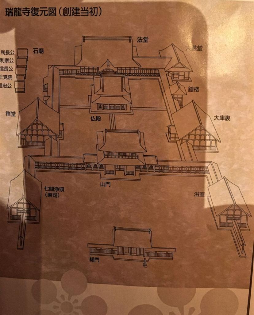 高岡山瑞龍寺伽藍配置