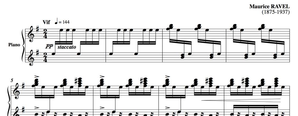 ラヴェルのピアノ曲
