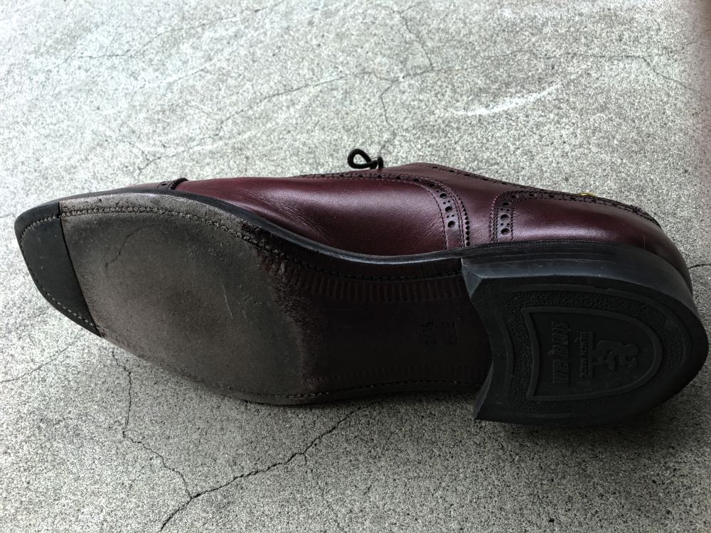 スコッチグレインの靴の靴裏